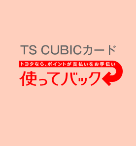TS CUBIC カード 使ってバック