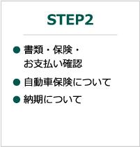 STEP2:書類・保険・お支払い確認、自動車保険について、納期について