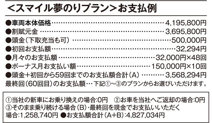 車両本体価格 4,195,800円(税込)