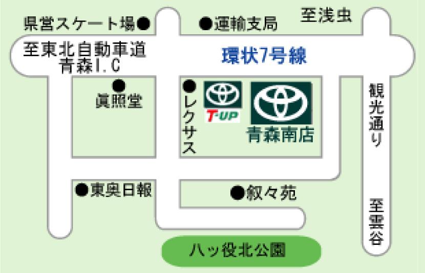 青森南店マップ