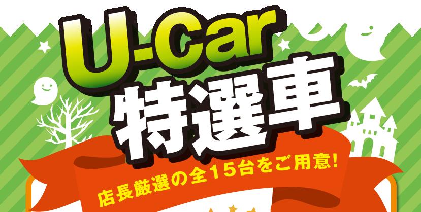 U-Car特選車 店長厳選の全15台をご用意!